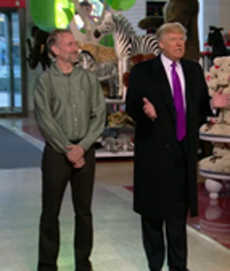 Brian Henson and Donald Trump